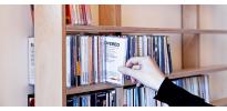 Bibliothèque disque design - Walldisc