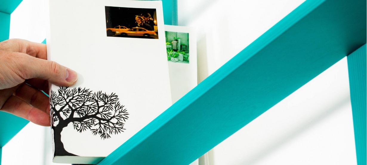 Bibliothèque range livre design Wallbook