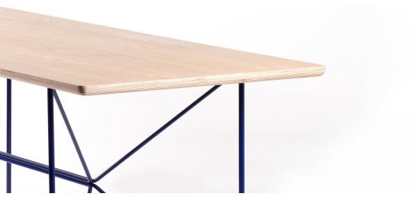 Table design bois et acier Wooply