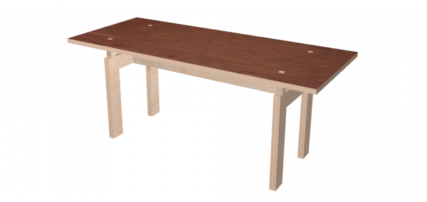 Table LC Bois Noyer