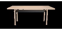 Table Sur Mesure LC - Bouleau et Noir Laqué - 190cm - face