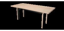 Table Sur Mesure LC - Bouleau et Noir Laqué - 190cm