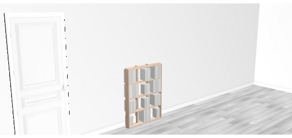 Bibliothèque design WallBook Tout Bouleau - 80x108,5cm