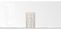 Bibliothèque bois WallBook Tout Bouleau - 80x134,5cm