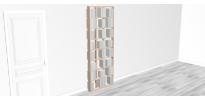 Bibliothèque design WallBook Tout Bouleau - 80x212,5cm