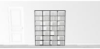 Bibliothèque noire WallBook Bois Laqué Noir - 160x186,5cm