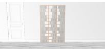 Bibliothèque bois Walldisc tout bouleau - 120x184,5cm