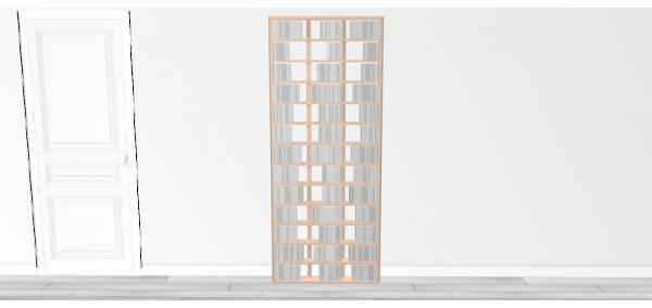 Bibliothèque bois Walldisc tout bouleau - 80x199,5cm