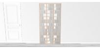 Bibliothèque bois Walldisc tout bouleau - 100x199,5cm