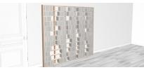 Bibliothèque bois Walldisc tout bouleau - 200x184,5cm