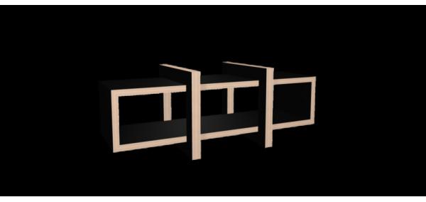Meuble hifi noir LOW bois laqué noir - 160x60cm
