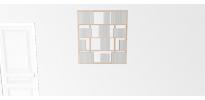 Etagère pour livre Wallbook Suspendue tout bouleau - 100x108,5cm
