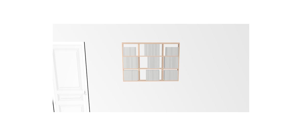 Etagère pour livre Wallbook Suspendue tout bouleau - 120x82,5cm