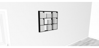 Etagère pour livre Wallbook Suspendue bois laqué noir mat - 90x82,5cm