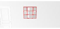 Etagère pour livre Wallbook Suspendue bois laqué rouge brillant - 90x82,5cm