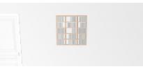 Etagère cd Walldisc Suspendue tout bouleau - 80x79,5cm