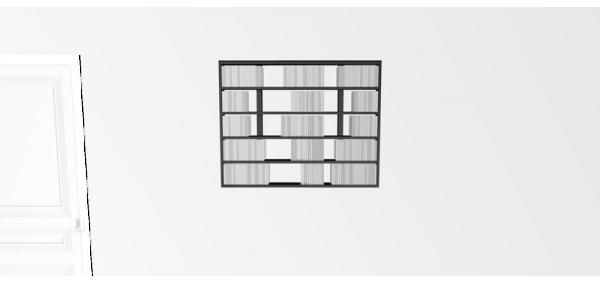 Etagère cd Walldisc Suspendue bois laqué noir mat - 100x79,5cm