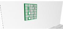 Etagère cd Walldisc Suspendue bois laqué vert mat - 80x94,5cm