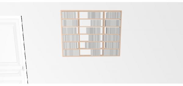 Etagère cd Walldisc Suspendue multiplis de bouleau brut - 120x94,5cm
