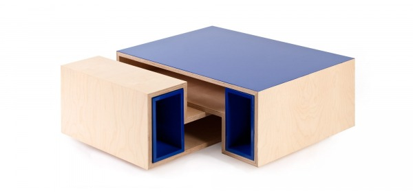 Table basse modulable et design. Disponible sur mesure